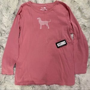 Women's NWT Pajama Top Pink W/Dog Graphic Size XL